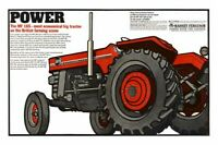 Vintage Massey Ferguson 165 Tractor Poster Brochure Leaflet Print RARE (A3)