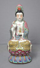 Chinese  Famille  Rose  Porcelain  Kwan-Yin  Figure
