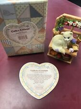 """2001 Enesco Calico Kittens """"Autumn Harvest� Special Issue 785067 W/Box And Cert"""
