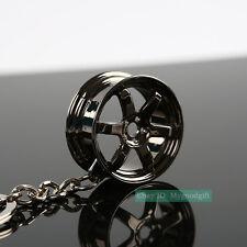 TE37 MINI Alloy Wheel Rim Style Keychain Keyring Dish Drift JDM Euro HF Keyfob