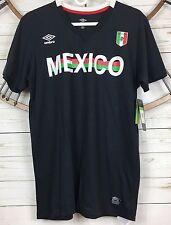 Umbro Comfort Control Mexico Shirt Medium Black Short Sleeve Soccer Futbol