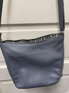 Vera Bradley Sycamore Leather Small Crossbody Tote Bag Gray