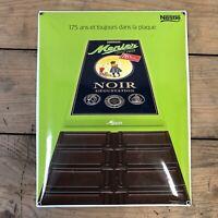 Chocolat Menier Plaque Émaillé Enamel Sign Publicité Neslé