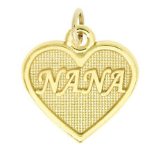 14Kt Yellow Gold Polished Grandmother Nana Charm Pendant