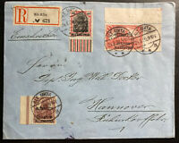 1920 Alt Ukta Registered Cover to Hanover Germany Plebiscite Overprints