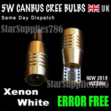2x 501 CREE ERROR FREE CANBUS LED SMD NUMBER PLATE XENON WHITE BULBS T10 W5W 194