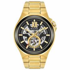 Bulova 98A178 Maquina Analogue Automatic Skeleton Men's Gold Watch
