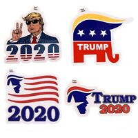 Funny 4PC President Donald Trump USA 2020 Decal Sticker Car Window Laptop Bumper