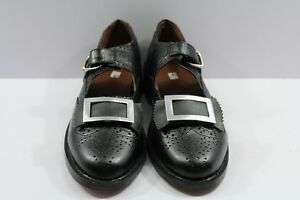 Piper or Drummer Ghillie Brogues Buckle Shoes Black Leather
