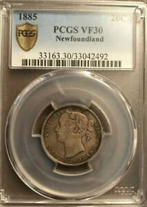 1885 Newfoundland .20 cents coin Graded by PCGS and Graded VF30