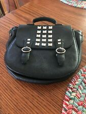 Cool Steve Madden Black Studded Hand Bag