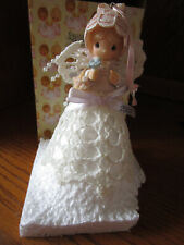 Precious Moments 2003 Graced with Lace Angel Girl Bird Ornament 113628 Nib