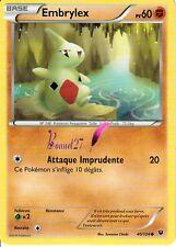 """Carte Pokemon """" EMBRYLEX """" Impact des destins XY PV 60 40/124  VF"""