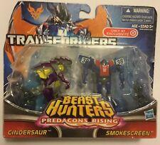 ! Transformers Cindersaur & Smokescreen Beast Hunters Predacons Rising Figure