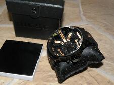 Diesel Herren Uhr DZ 7350 Mr. Daddy 2.0, Ø 57mm schwarz rose gold lederarmband