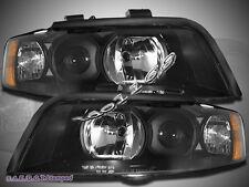 02-05 Audi A4 4 Door Sedan Wagon Quattro Halogen Black Housing