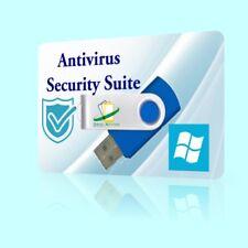 2018 Anti virus Suite Malware Spyware Virus Trojan Removal Microsoft Windows USB