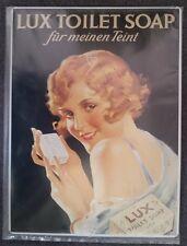 """LUX Toilet Soap """"für meinen Teint"""" - 3D Relief geprägtes Blechschild 39 x 29 cm"""