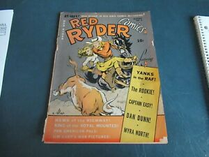 Vintage 1941 Red Ryder Comics #3  Scarce Only 1 On Ebay! Sun Faded Lot 20-76-5-A