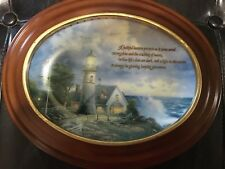 Thomas Kinkade Light Of Peace and A Light In The Storm Collectable plates
