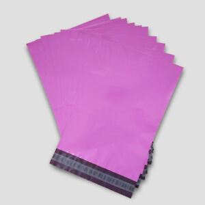 """25 - 12 x 16"""" Pink Mailing Plastic Postage Post Packing Postal Courier Bags"""