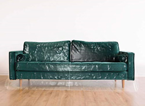 """Clear Vinyl Furniture Protector - Large Sofa Cover - 108"""" W x 40"""" D x 42"""" H 18"""""""