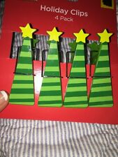 New 4 Holiday Christmas Clips... Cards Art Chips Giftbag Tags Pictures +Magnets
