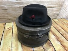 308a4306632 Vintage Superfine Knox Bowler Derby Men s Hat 7 1 8 With Wooden Box