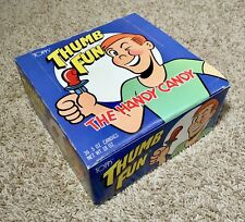 Vintage 1985 Topps THUMB FUN 1st Box Candy Display bubble gum container Fleer