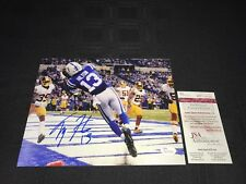 TY HILTON INDIANAPOLIS COLTS SIGNED 8X10 PHOTO JSA WITNESSED COA WP114126