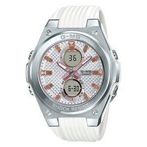 -NEW- Casio G-Shock Women's White Analog / Digital Watch MSGC100-7A