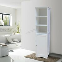 WestWood Wall Mount Wooden Bathroom Cabinet Tall Shelving Unit Storage White