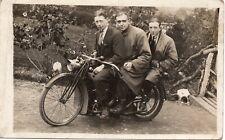 More details for postcard vintage british motorcycle motorbike reg no da 184 3 x men 1950's rppc