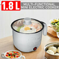 1.8L Slow Cooker Stainless Steel Pot Mini Kitchen Portable Multi-function Home