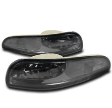 1997-2004 CHEVY CORVETTE C5 Z06 SMOKE FRONT BUMPER SIGNAL PARKING LIGHT LAMP SET