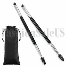 Cepillo de cejas en ángulo Ojo Cejas 2PCS y herramientas de maquillaje Cepillo Cepillo Doble Extremo Nuevo