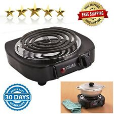Portable Electric Single Burner Hot Plate Cooker Stove Dorm Rv Travel Camping