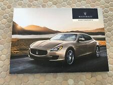 MASERATI QUATTROPORTE S Q4 AND GTS PRESTIGE SALES BROCHURE 2013 USA EDITION NEW