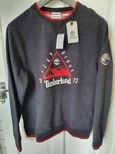 New Mens Timberland Archive Scar Ridge Sweatshirt Jumper Grey Red Large