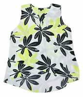 Women/'s NWT Alfani Embroidered Floral Lace-Hem Blouse Top Sleeveless