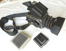 Hasselblad 500 C/M-Zeiss 2.8 80mm Lens-Waist Level PM Prism Viewfinder Camera