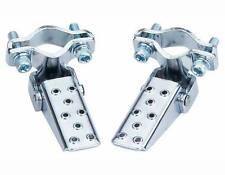 Steel Foldable folding Fork Step pegs Chrome. BIKE FOOT fold able PEG PEGS