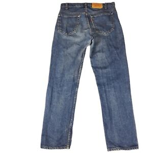 Vintage Levis 505 0217 Made In USA Jeans Straight Leg Dark Blue 80s Size 34x30