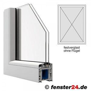 Veka Kunststofffenster Breite 800mm x wählbare Höhe, feststehend ohne Flügel in