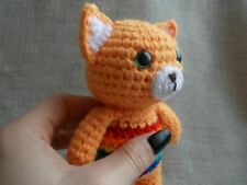 Crochet Fox New Baby Gift Baby Crochet toy Fox Rainbow