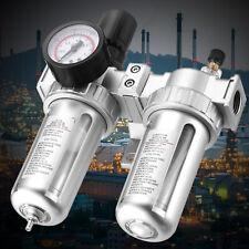 G12 Air Compressor Filter Oil Water Separator Trap Tools With Regulator Gauge