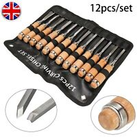 12 Pieces Wood Carving Hand Chisel Tool Set Professional Woodworking Gouges