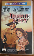 DODGE CITY ERROL FLYNN ANN SHERIDAN   ORIGINAL RELEASE AS NEW RARE PAL VHS VIDEO