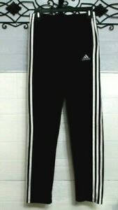 Adidas Activewear Pants Boy's Size L Black 3 Strip Track Pants