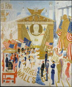 Florine Stettheimer The Cathedrals of Wall Street Giclee Paper Print Poster